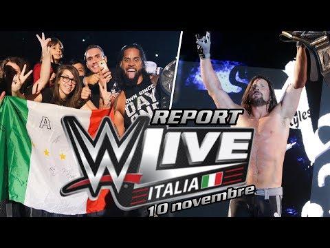 Report WWE Live Event - Milano, 10 novembre 2017