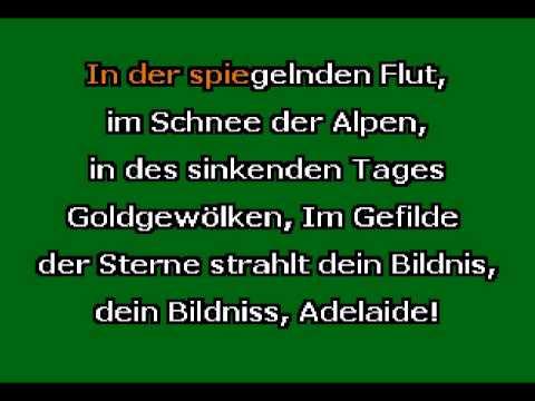 """Adelaide"" by L. van Beethoven Karaoke Accompaniment"