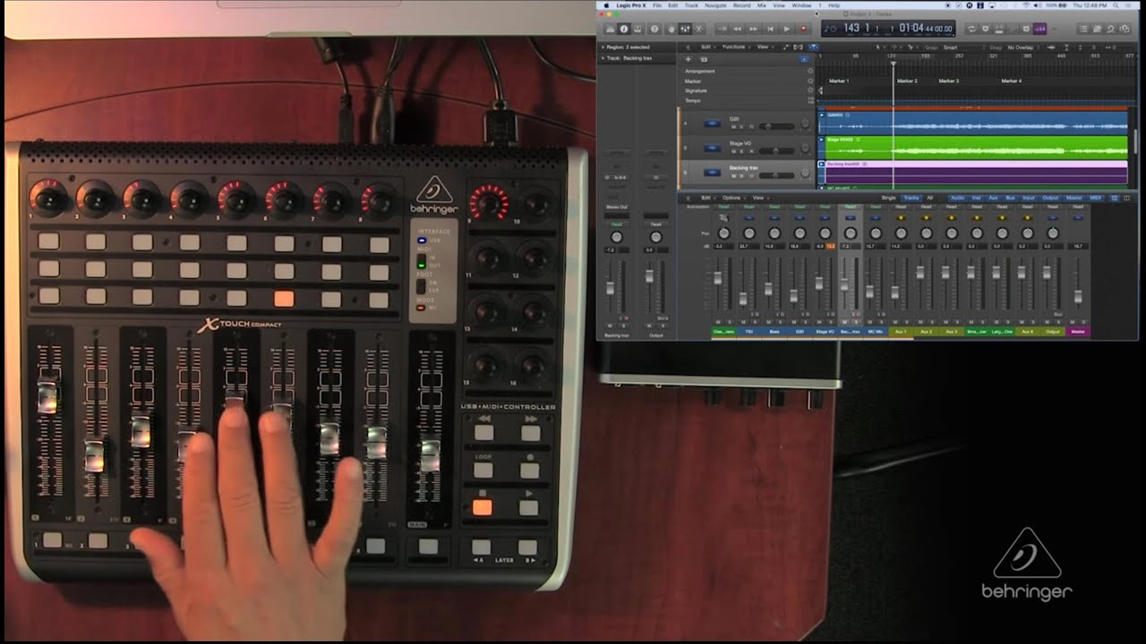 XTOUCH COMPACT How To  Functionality with Logic Pro X