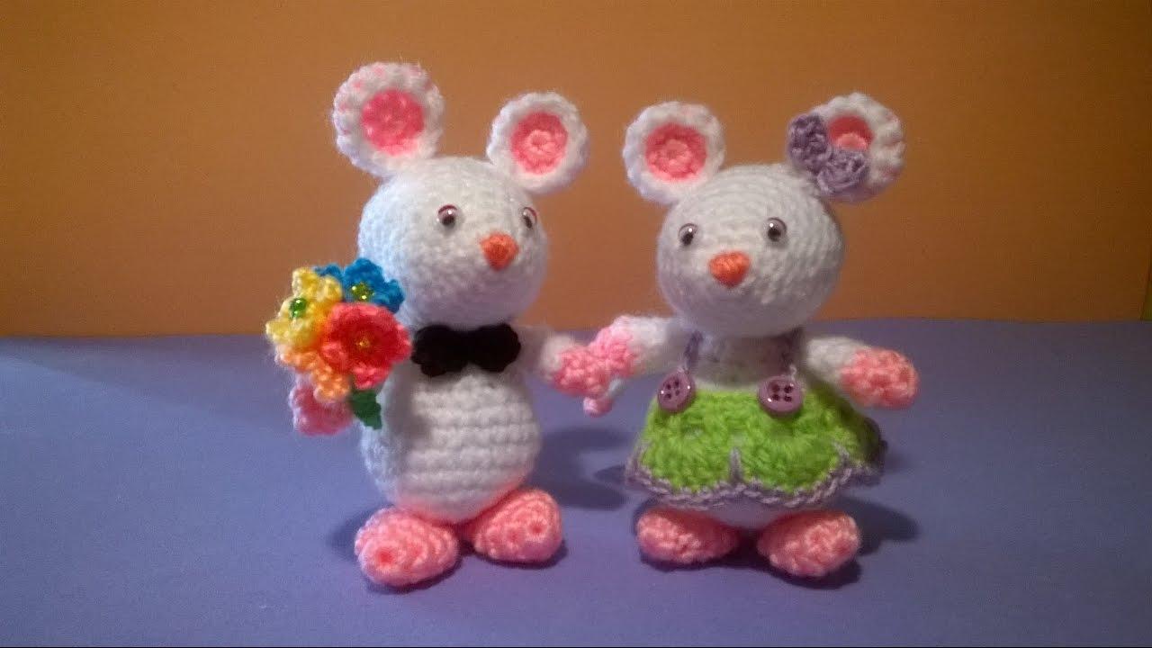 Topolini Uncinetto Amigurumi Tutorial Mouse Pattern Crochet