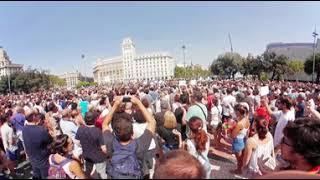 Minut de silenci a Plaça Catalunya en 360º