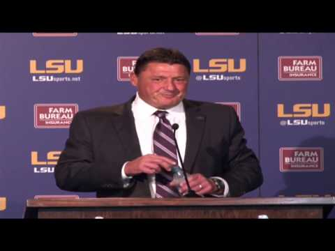 Ed Orgeron introduced as interim LSU Head Coach | FULL PRESSER