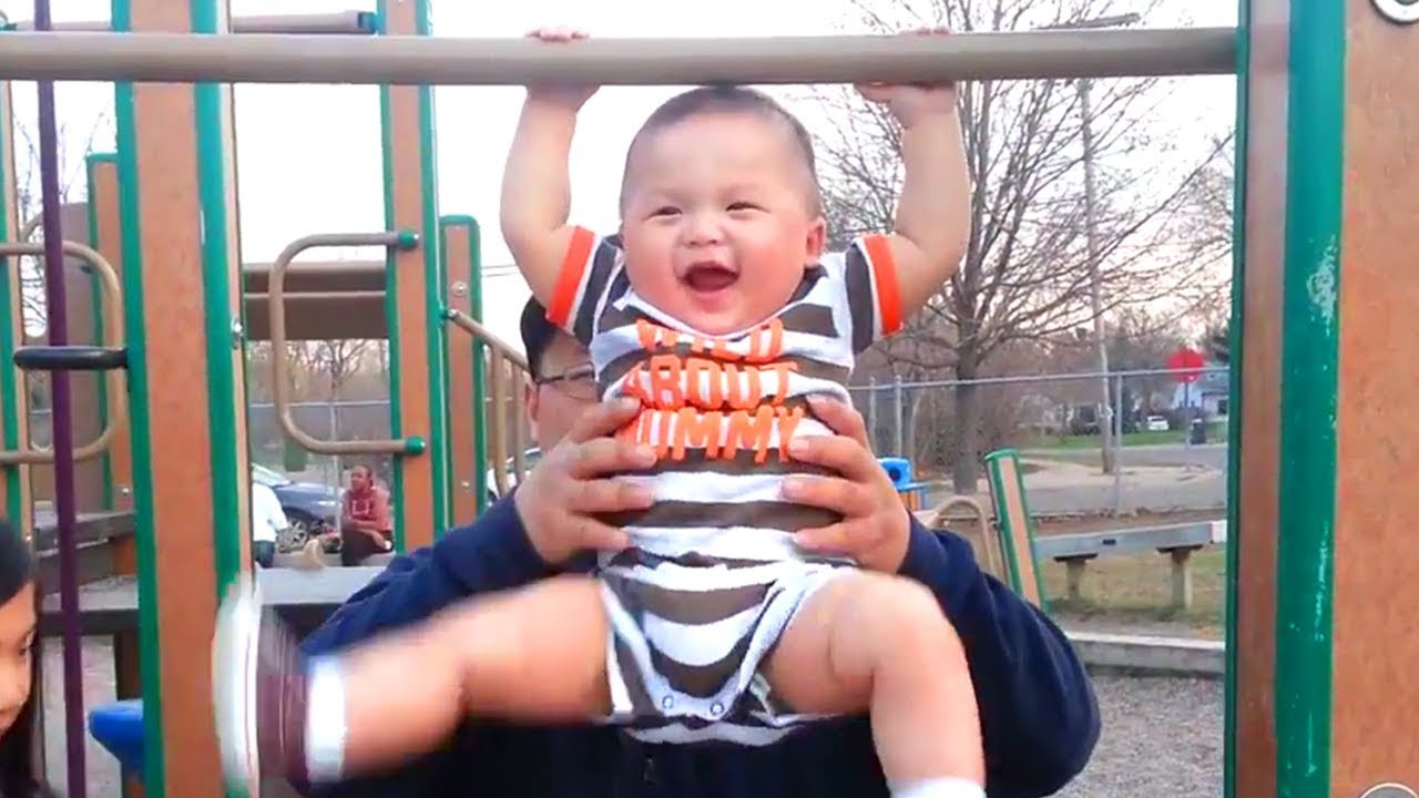 Funny Baby Doing Exercise Moments ?️♀️ Funny Cute Video
