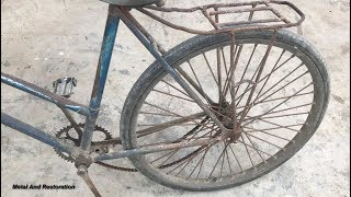 Restoration bicycle old |  Restore bike Rusty | Antique cyclist restoration