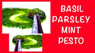 How To Make A Basil, Parsley And Mint Pesto In One Minute (hd)
