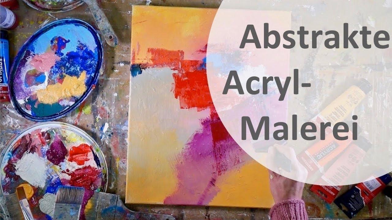 Abstrakte Acrylmalerei Mit Dem Color Shaper Ganz Einfach Malen