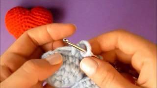 Видео урок - Как вязать амигуруми сердце