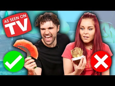"""6 WEIRD """"As Seen on TV"""" Kitchen Gadgets Tested! (What the Flavor)"""