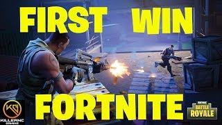 First Win in Fortnite Battle Royale PS4 Pro Gameplay