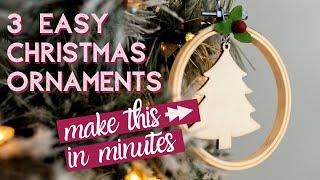 3 Minimalist Christmas Ornaments to DIY This Season