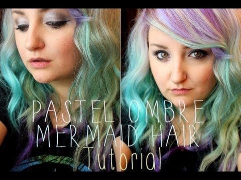 ♥ Pastel Ombre Mermaid Hair Tutorial ♥