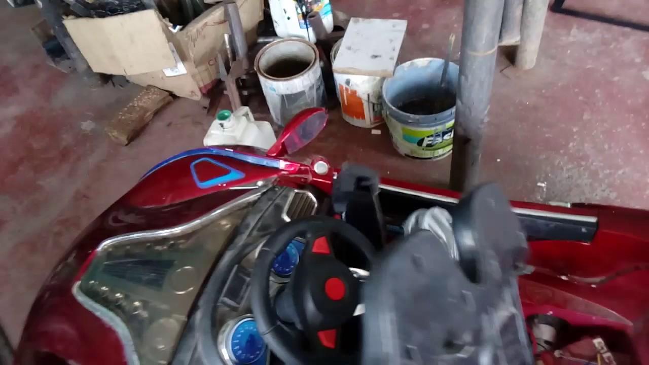 Pintar Carro Coche Electrico De Juguete Youtube