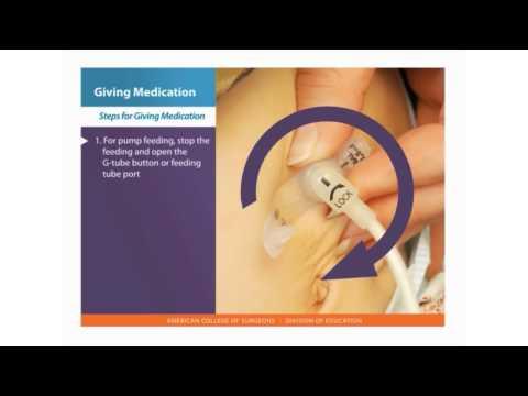 Feeding Tube Skills: Giving Medication