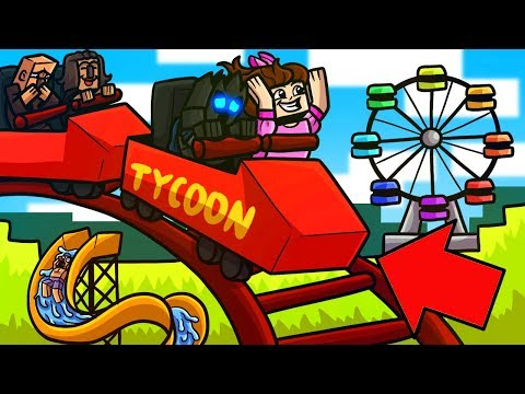 Minecraft: THEME PARK TYCOON!!! (BUILD YOUR OWN AMUSEMENT PARK!) - Modded Mini-Game