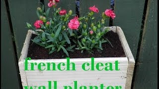 Simple Wall Planter French Cleat