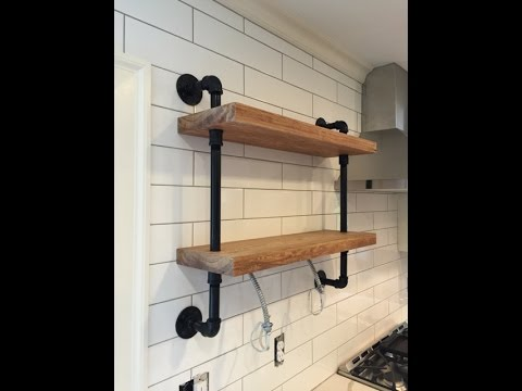 How to Make a Gas Pipe Wall Shelf