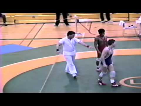 1989 Senior National Championships: 48 kg Imran Akhtar vs. Rob Wellwood