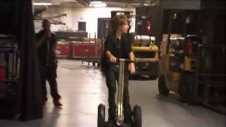 Justin Bieber and His Segway in NEVER SAY NEVER: Director's Fan Cut Edition