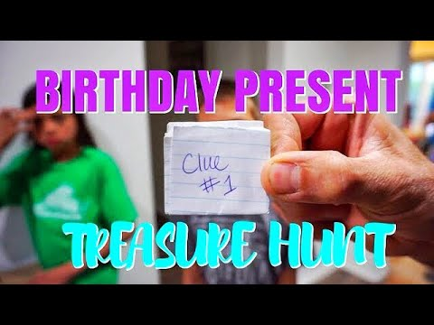 Birthday Present Treasure Hunt (Family Vlog)