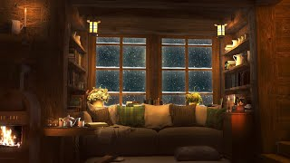 Cozy Winter Hut  Relaxing Blizzard and Snowstorm Sounds w/ Heavy Wind & Snow for Sleep & Relaxation