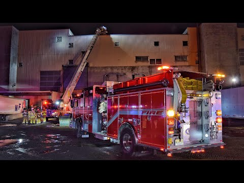 Video of Wednesday night's Marcal Plant fire