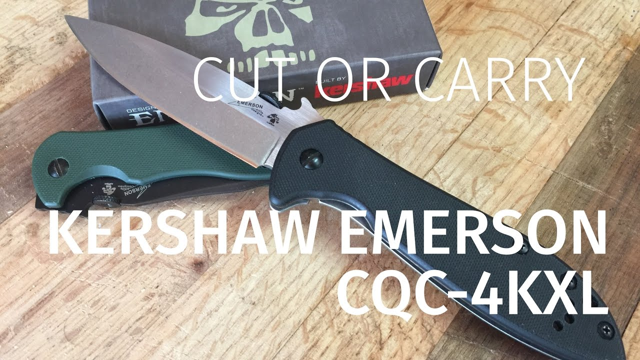kershaw emerson cqc 4kxl review tacticool on a budget youtube