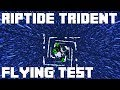 Minecraft Riptide Trident Flying Test - Minecraft 1.13 Update Aquatic