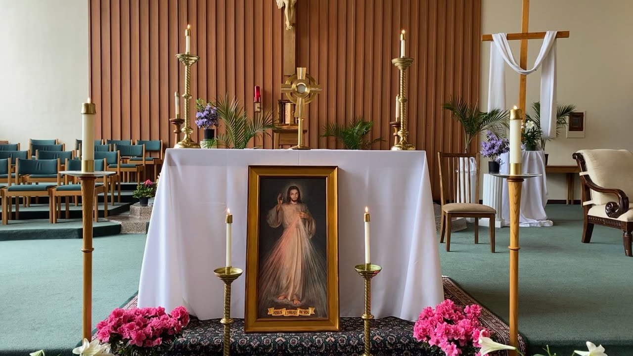 Divine Mercy Sunday chaplet and adoration_April 19, 2020