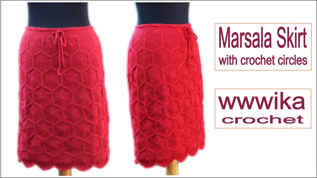 How to crochet skirt with crochet circles Free tutorial pattern ...