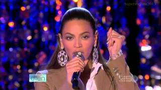 Beyoncé If I Were A Boy Live On Ellen Show HD