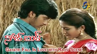 Notebook Telugu Movie   Gayatri Fall In Love with Rajiv Scene   Rajiv   Gayatri   ETV Cinema