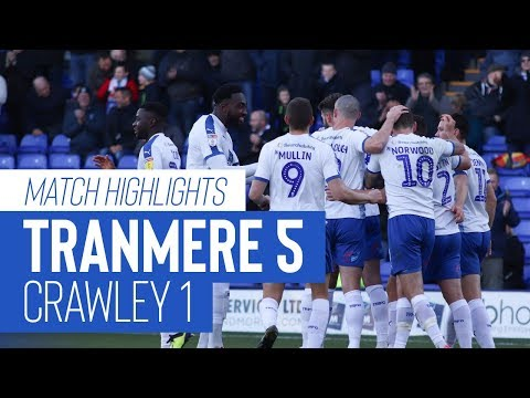 Match Highlights   Tranmere Rovers v Crawley Town - Sky Bet League Two