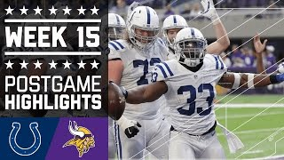 Colts vs. Vikings | NFL Week 15 Game Highlights