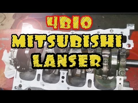 Фото к видео: Сборка блока Mitsubishi Lancer 10. 4B10