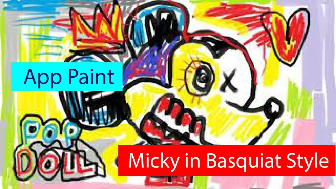 Menggambar Micky Mouse Dengan Basquiat Style L How To Draw Mickey Mouse With Basquiat Style Youtube