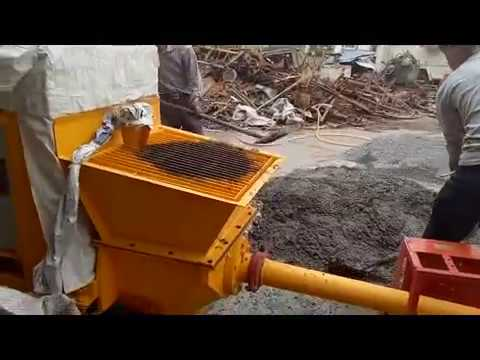 small concrete pump video