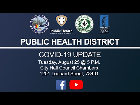 Public Health District COVID-19 Briefing August 25, 2020