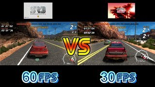 Sega Rally 3 Vs Sega Rally Online Arcade  (Sega Europa R Vs PS3) - Canyon