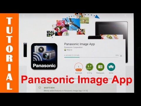 Demonstrating The Panasonic Image App On An Android Device