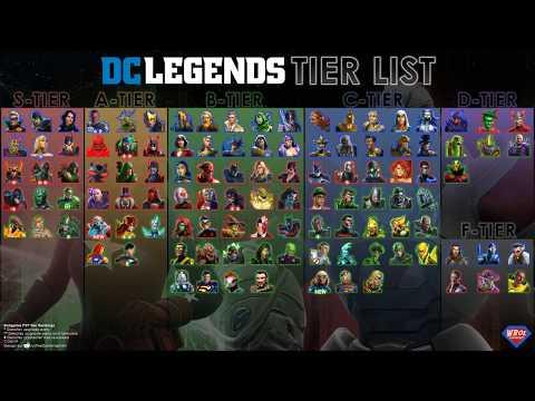 End Game PvP Tier List - July 2019 - DC Legends Mobile