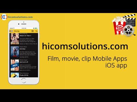 Film, movie, clip ios app source code for sale