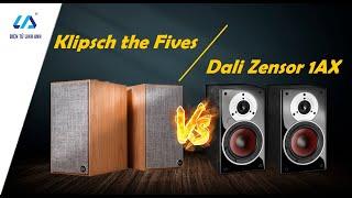 Loa liền âm ly Bookshelf Klipsch The Fives, đánh giá âm thanh và thử so sánh với loa Dali Zensor 1AX