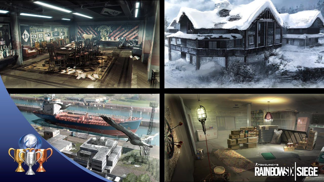 Rainbow Six Siege   4 NEW Maps w  Gameplay   Chalet  Club House     Rainbow Six Siege   4 NEW Maps w  Gameplay   Chalet  Club House  Kanal    Oregon   YouTube