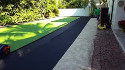 Artificial turf installation Key Biscayne, Florida