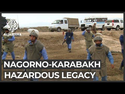 Mines, unexploded munitions riddle Nagorno-Karabakh region