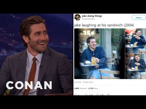 Jake Gyllenhaal Reacts To @JakeActivities   CONAN on TBS