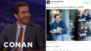 Jake Gyllenhaal Reacts To @JakeActivities  - CONAN on TBS
