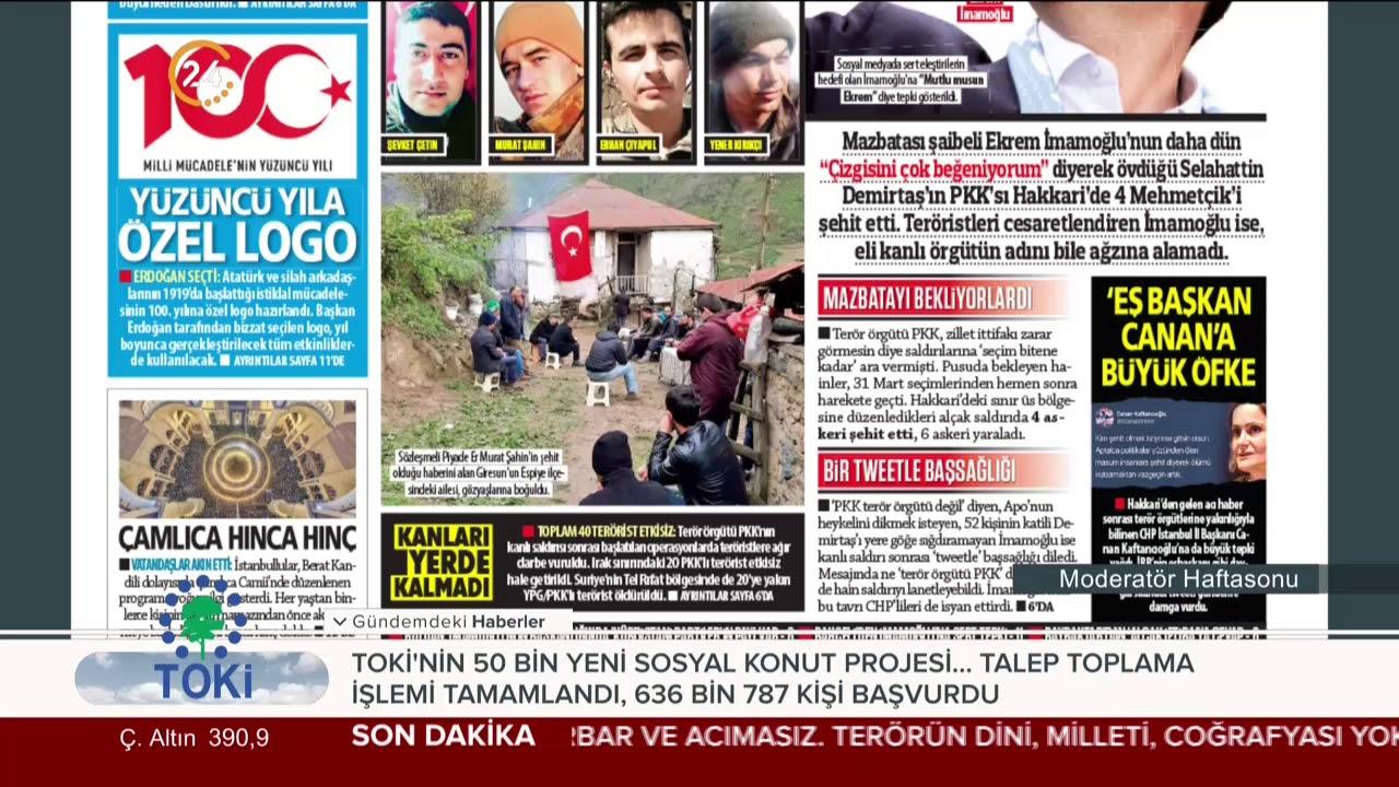 Güneş gazetesinin 21 Nisan 2019 tarihli birinci sayfası: Mutlu musun Ekrem