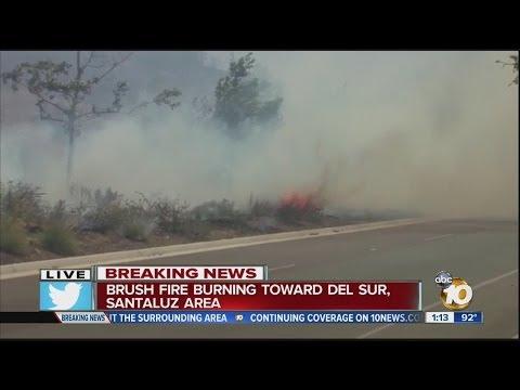 10News Breaking News Tracker: Fire In Del Sur Area