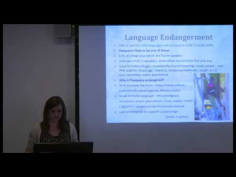 Ellen Smith: Contact-induced change in Papapana, SOAS University of London